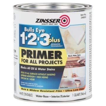 Zinsser Bulls Eye 1-2-3 Plus 32 Oz Interior/Exterior Water-Base Primer 6/PK
