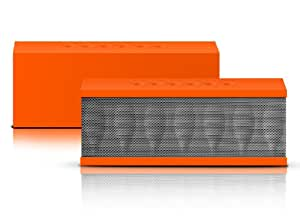Photive CYREN Portable Wireless Bluetooth Speaker with Built in Speakerphone 8 hour Rechargeable Battery (Orange)