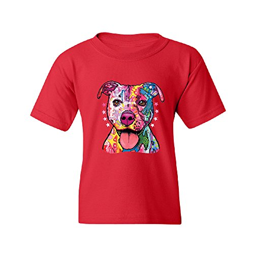 Colored Pitbull Youth T-shirt Fancy Fashion 2017 Brand New Quality Tee