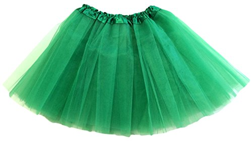 Homemade Butterfly Costumes Toddler (Hairbows Unlimited Girls Solid Ballet Dance Tutu for Youth Toddlers Emerald Green)