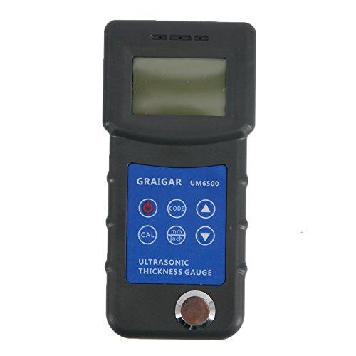 Graigar UM6500 Portable Digital Ultrasonic Thickness Gauge Meter 1.0-245mm 0.05-8inch (Meters Ultrasonic Thickness)