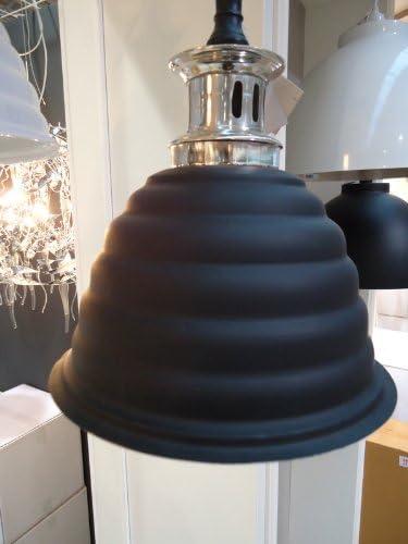 LightMakers ENDUSTRIE Hanging Lamp in Black and Nickel, 11d x 14h