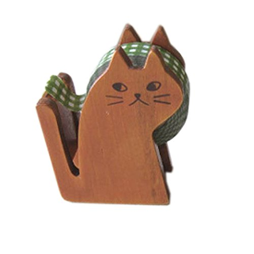 "Decole ""Miranda"" Cat Tape Dispenser, Natural"
