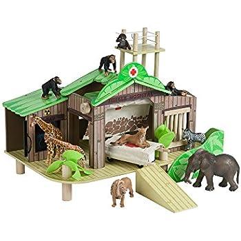 Amazon Com Jungle Hospital Wooden Wildlife Hospital And