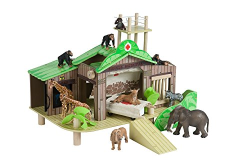 Jungle Hospital - Wooden Wildlife Hospital and Rescue Center (Stretcher Wheeled)