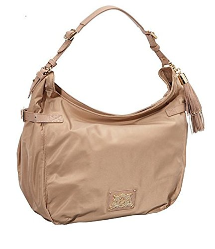 Juicy Couture Designer Purses - Juicy Couture Hobo - Nylon Ellie Dark Beige YHRU3537-252