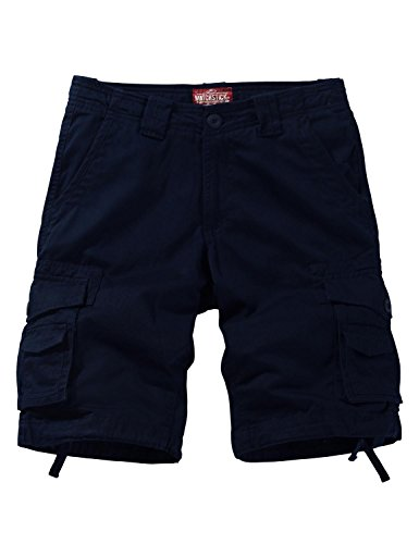 Match Men's Twill Comfort Cargo Short Without Belt #S3612(Label Size S/29 (US 28), Blue)