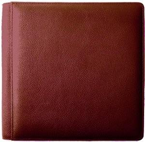 ROMA RED #103 smooth grain leather 1-up 5x7 album by Raika - 5x7 by Raika®