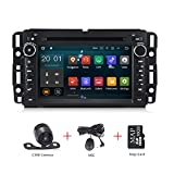 Android 8.1 Car Stereo 7 inch DVD Player for GMC Chevy Silverado 1500 2012 Quad Core Double Din in Dash Touchscreen FM/AM Radio Receiver Navigation with Rear View Camera