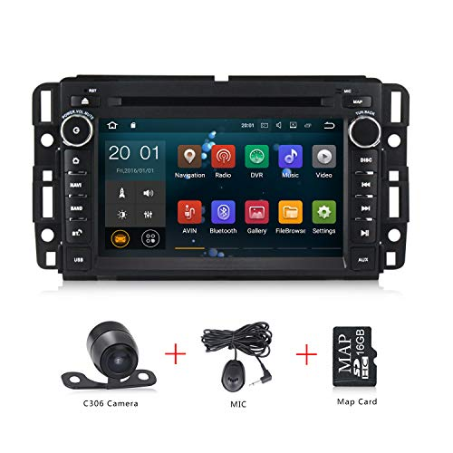 Android 8.1 Car Stereo 7 inch DVD Player for GMC Chevy Silverado 1500 2012 Quad Core Double Din in Dash Touchscreen FM/AM Radio Receiver Navigation with Rear View Camera by MekedeTech (Image #7)