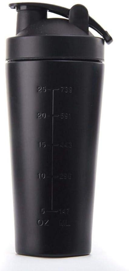 Botella vibradora de proteína de acero inoxidable fitness ...
