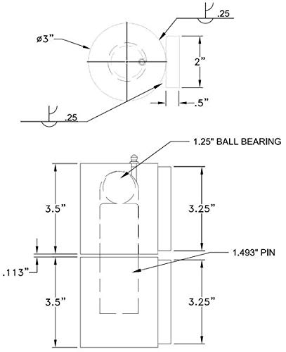 Guardian 3210.100 Hercules Extra HD - 3'' Round Barrel Gate Hinge Each by Z-Mag (Image #1)