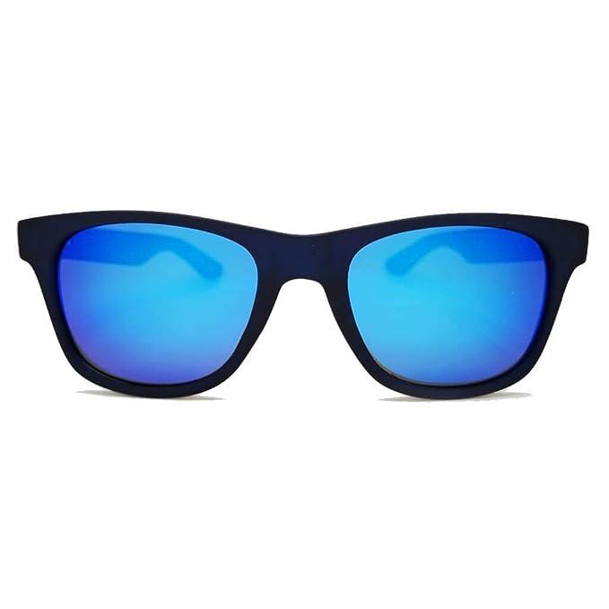 7d0488ffc Mohikane Brac Blue - Gafas de sol Mohikane con montura azul translúcida de  TR90 con efecto