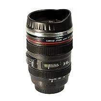 Brilliant - Caniam Camera Lens Insulated Coffee/Tea Travel Mug with Drinking Lid 13.5 oz.