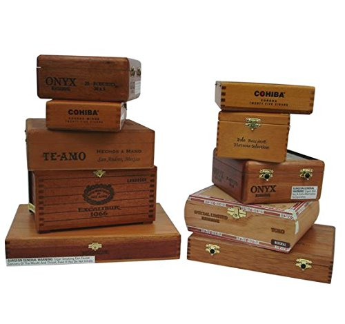 Standard Premium Wood Cigar Box Set of 10]()