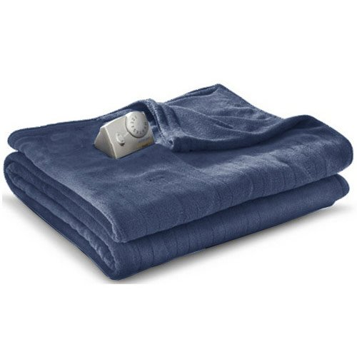 Price comparison product image Biddeford Microplush Electric Blanket, Denim, Full