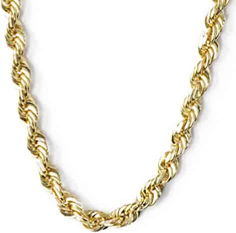 SOLID 14k Yellow Gold 24 Inch Rope Chain 2.5 MM , 11.1 Grams