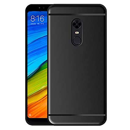 online store 65f42 45eb2 Hupshy Redmi Note 5 Cover/Redmi Note 5 Back Cover/Redmi Note 5 Plain Case &  Cover/Soft TPU Cover for Redmi Note 5 - Balck (BC01)