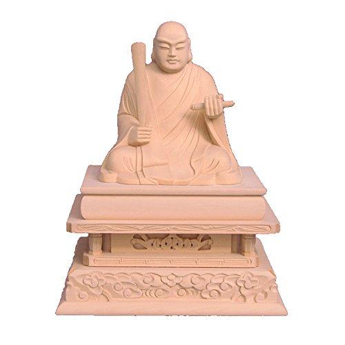 木彫仏像 日蓮聖人座像 3.0寸 桧木 B01MXVISSJ