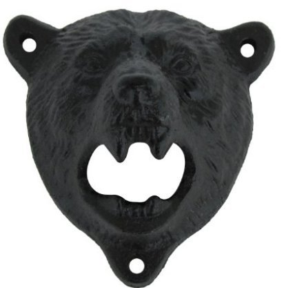 Bear Opener - Wish Dayz Cast Iron Wall Mount Grizzly Bear Teeth Bite Bottle Opener