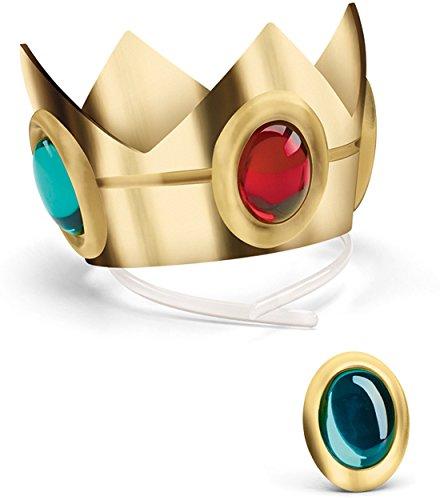 Princess Peach Wig (Nintendo Super Mario Brothers Princess Peach Crown and Amulet)