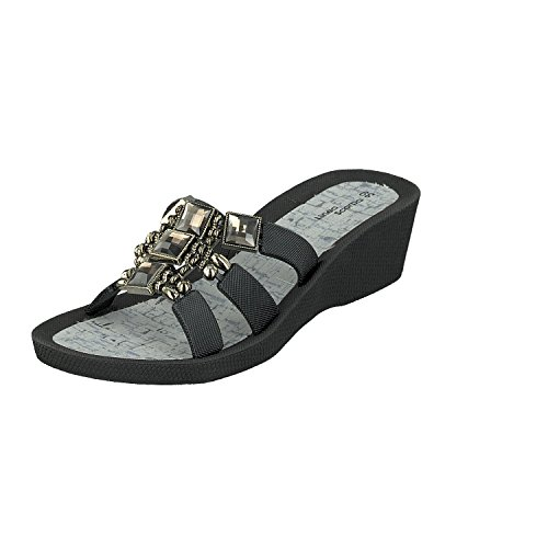 Zapatos Samoa Scarpa Sandalias Zapatillas Negro Mujer Informales Baño Y Linea vSwTT