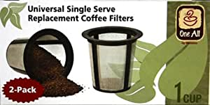 Medelco RK202 One All Universal Single-Cup Replacement Coffee Filter, Set of 2