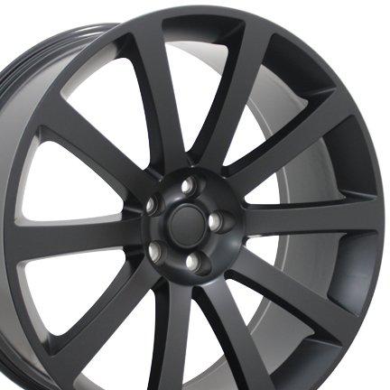 22×9 Wheel Fits Chrysler, Dodge – 300, Charger, Challenger SRT Style Rim – Matte Black