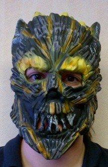 3/4 Mask Child - Rubies Child's Molten 3/4 Vinyl Mask