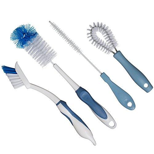 Bottle Brush Dish Cleaning Set | Long Handle Brushes for Washing Straws, Baby Bottles, Water Flasks & Growlers