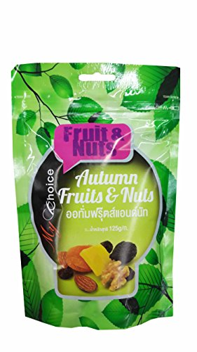 Autumn Fruits and Nuts, Delicious Snack from My Choice Brand. (125 g/ pack) (Care Package For My Boyfriend)