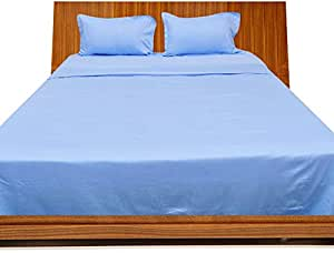 Brightlinen Light Blue King (150 X 200 Cm) Sheet Set Solid(pocket Size: 42 Cm) 4pcs