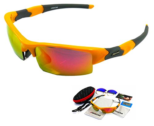 22de19172c FARROVA AX5064 Extreme Series Polarized Sunglasses Cycling Grilamid TR90  Frame Sports Sunglasses for Men   Women with Interchangeable Iridium Lenses  for All ...