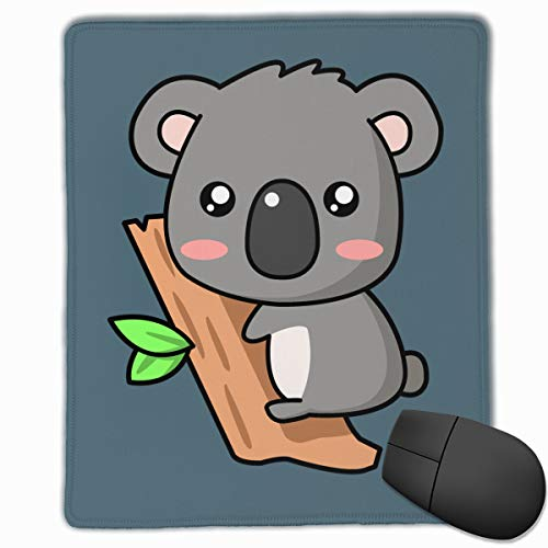 Happy Index Little Christmas Koala Mouse Pad with Stitched Edge, Premium-Textured Customized Non-Slip Rubber Mousepad Gaming Mouse Pad, 11.8x9.8x0.12 ()