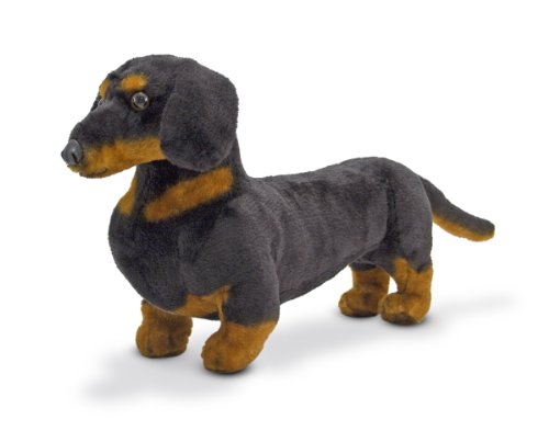 Melissa & Doug Giant Dachshund - Lifelike Stuffed Animal Dog (Stuffed Dachshund)