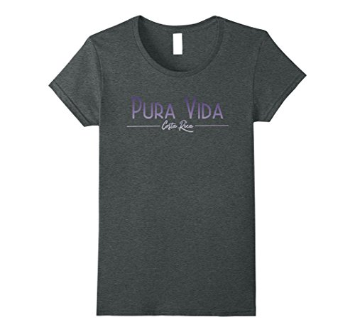 Womens Pura Vida Costa Rica T Shirt Medium Dark Heather