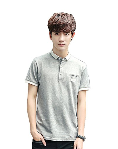 FEVON ポロシャツ メンズ 半袖 Tシャツ カジュアル かっこいい ボタンダウン 無地 純色 トップス カットソー ティーシャツ スポーツ ゴルフ 快適 吸汗速乾 夏 大きいサイズ M-4XL