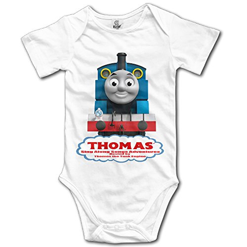 Cute Boddy Thomas and Friends Infant Short Sleeve Bodysuit Rompers White