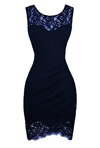 Hem 1 Coolred Party Line Dress Lace Pencil Sexy Women Sleeveless Summer xvHv1fEqw