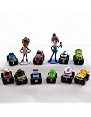 Blaze and The Monster Machines Toppers – Premium Cake Topper Figurines – Monster Trucks Cake Décor – Blaze Kids Party – Set of 12 Cake Toy Toppers + Magnet Bonus – Party Favors & Cake Ornaments