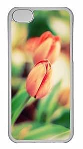 iPhone 5C Case, Personalized Custom Tulip Macro for iPhone 5C PC Clear Case