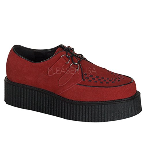 DEMONIA Pleaser Creeper-402S 5,08 cm (2) F/P-Mens Rockabilly, in pelle scamosciata, stile Goth Punk Creeper 5,08 cm (2) F/P