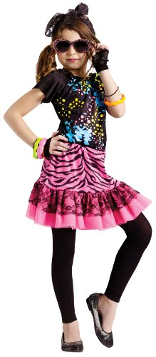 Pop Star Costume Child (80's Pop Party Child Costume - Large)