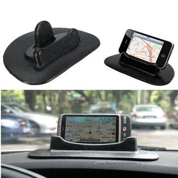 Car Dashboard Phone Holder Pad Anti Slip Sticky Stand Universal for GPS Mobile Tablet  Black