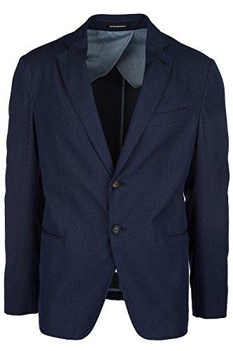 Emporio Armani Men's Jacket Blazer Blu US Size 50 (US L) (Emporio Armani Wool Blazer)