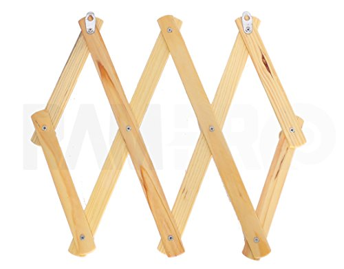 Set Of 2 Ram Pro Accordion Style Wood Expandable Rack Hat