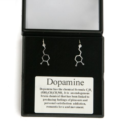 Dopamine Earrings (Molecular Structure)