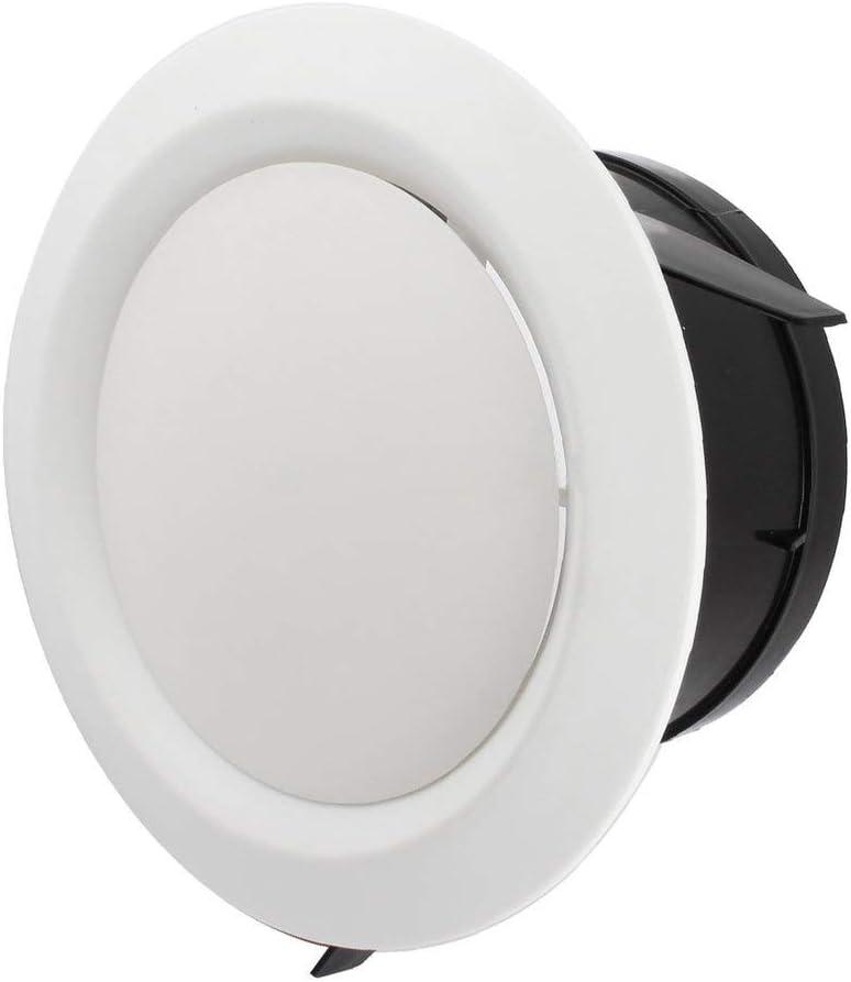HugeAuto Disques de ventilation ronds r/églables silencieux Blanc 75-200 mm
