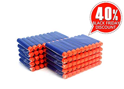 "Price comparison product image Coomoors 200pcs Foam Darts, 2.84"" Round Head Refill Soft Bullets Darts for Nerf N-Strike Elite Series Blasters and Other Kid Toy Guns - Blue"
