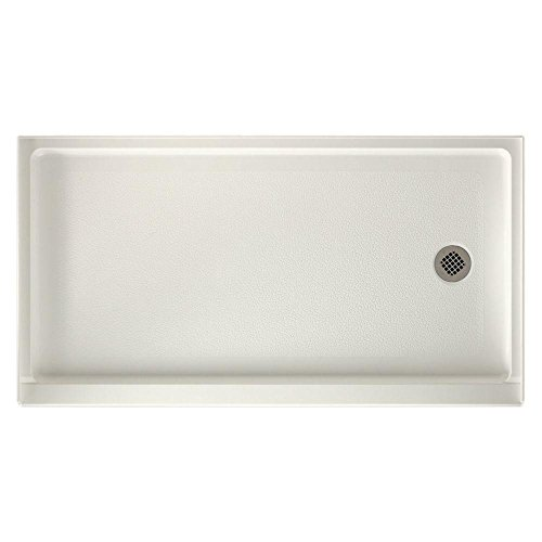 Swanstone FR-3260R-018 Veritek Right Hand Drain Shower Base 60-Inch by 32-Inch by 4-5/16-Inch Bisque